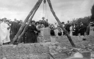 Laying the Foundation Stone.