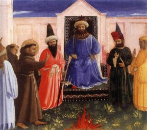 """Francis and the Sultan"" by Fra Angelico"
