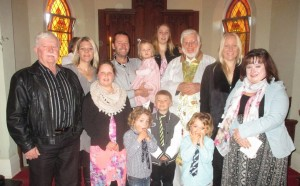 Kyra May's Baptism at St John's, Langhorne Creek, Sunday 5th July 2015