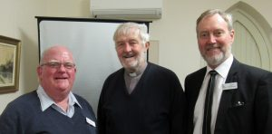 Ian Morely, Rev. David Smith and Steve Bengtsson