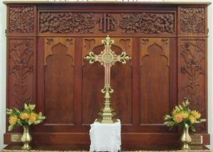 Carved Reredos: Christ Church, Strathalbyn